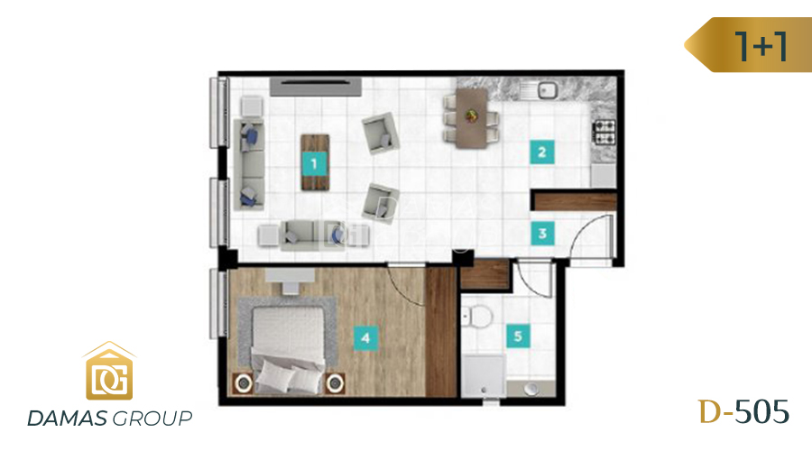 Damas Project D-061 in kocaIi - Floor Plan 01