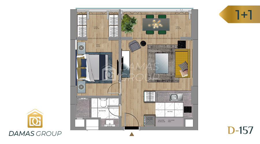 Damas Project D-157 in Istanbul - Floor Plan 02