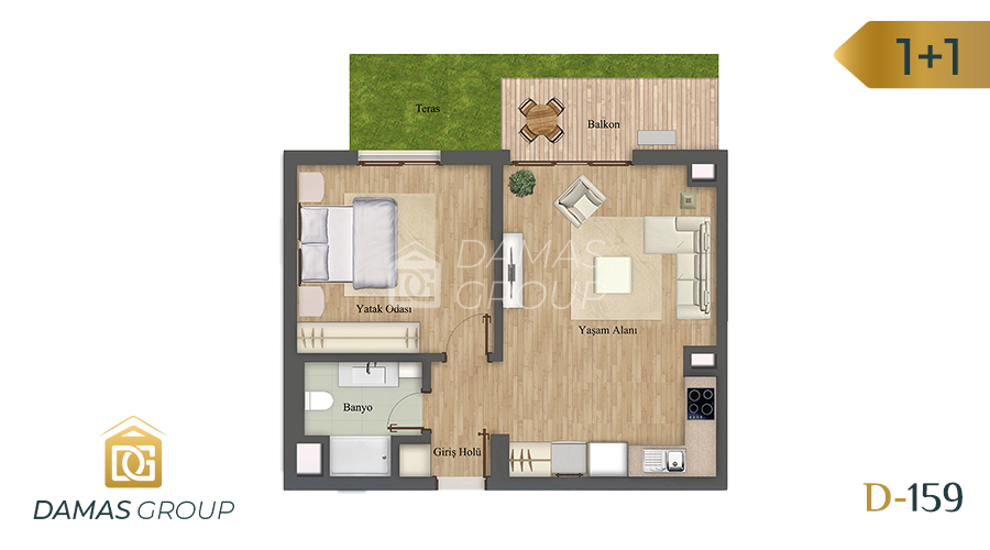 Damas Project D-159 in Istanbul - Floor Plan 01