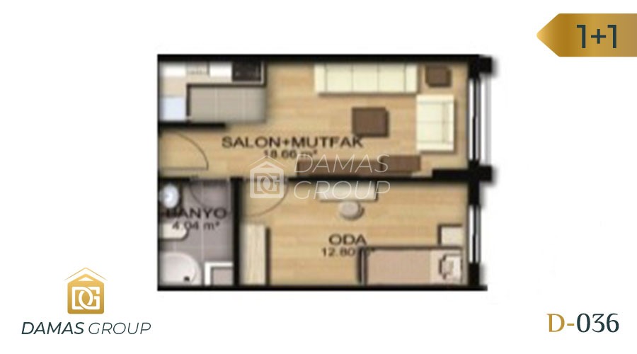 Damas Project D-036 in Istanbul - Floor Plan 01