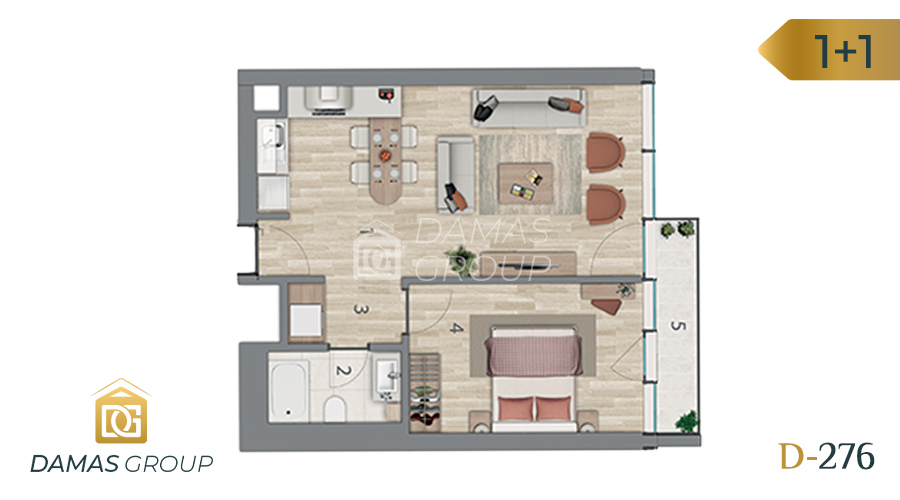 Damas Project D-276 in Istanbul - Floor Plan 01