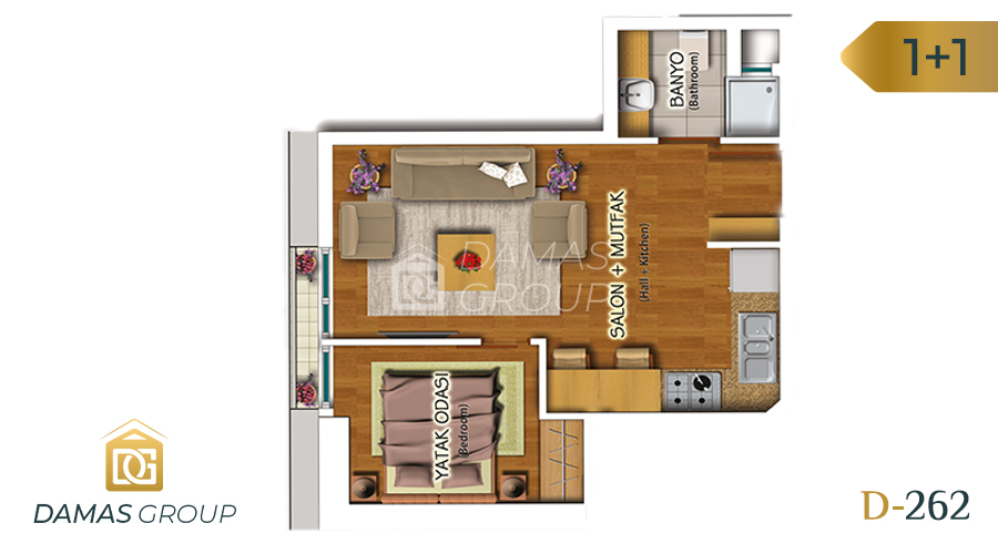 Damas Project D-262 in Istanbul - Floor Plan 02