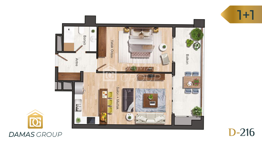 Damas Project D-216 in Istanbul - Floor Plan 01