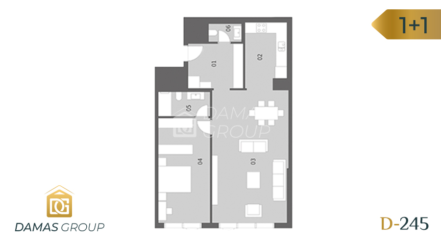 Damas Project D-245 in Istanbul - Floor Plan 01