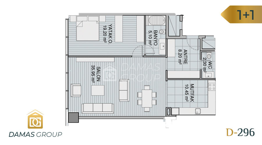 Damas Project D-296 in Istanbul - Floor Plan 01