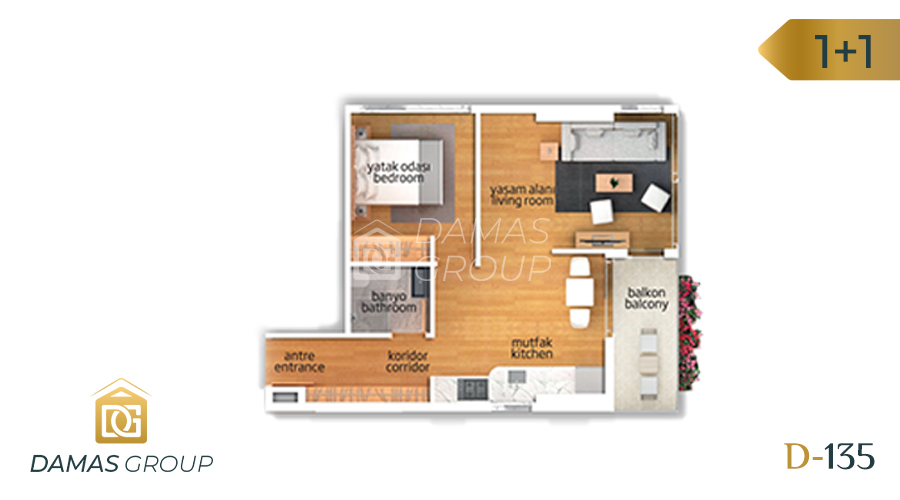 Damas Project D-135 in Istanbul - Floor Plan 01