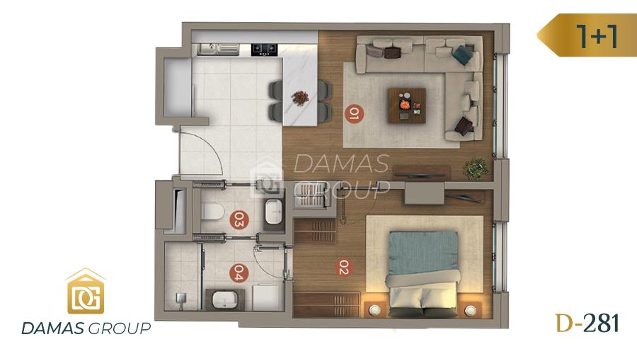 مجمع داماس 281 في اسطنبول  - صورة مخطط 01