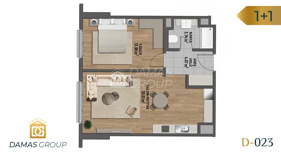 Damas Project D-023 in Istanbul - Floor Plan 01