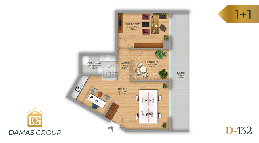 Damas Project D-132 in Istanbul - Floor Plan 01