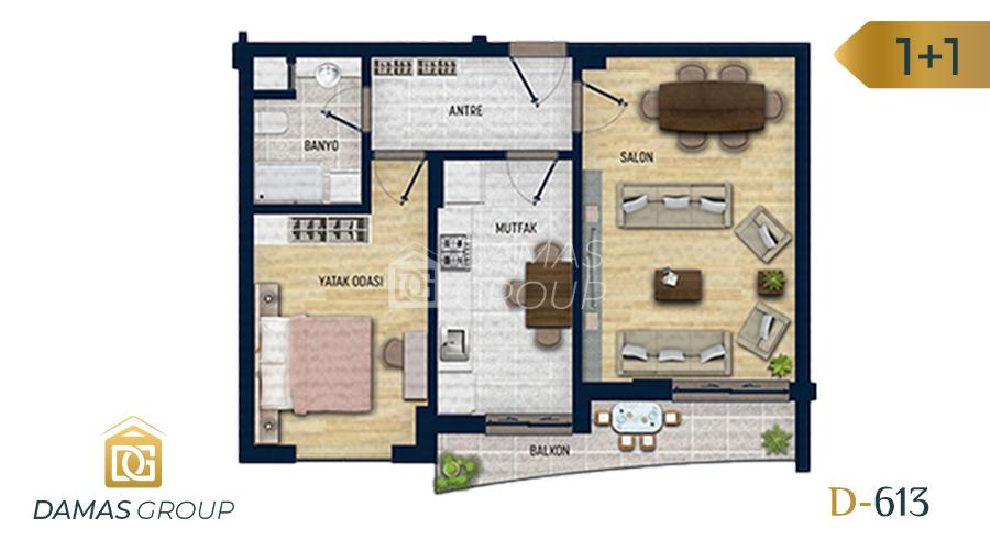 Damas Project D-613 in Antalya - Floor Plan 01