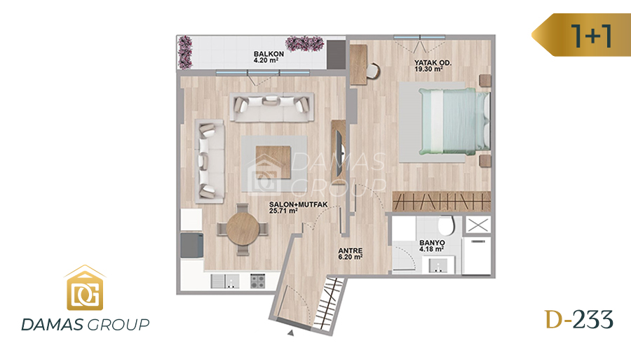 Damas Project D-233 in Istanbul - Floor Plan 01