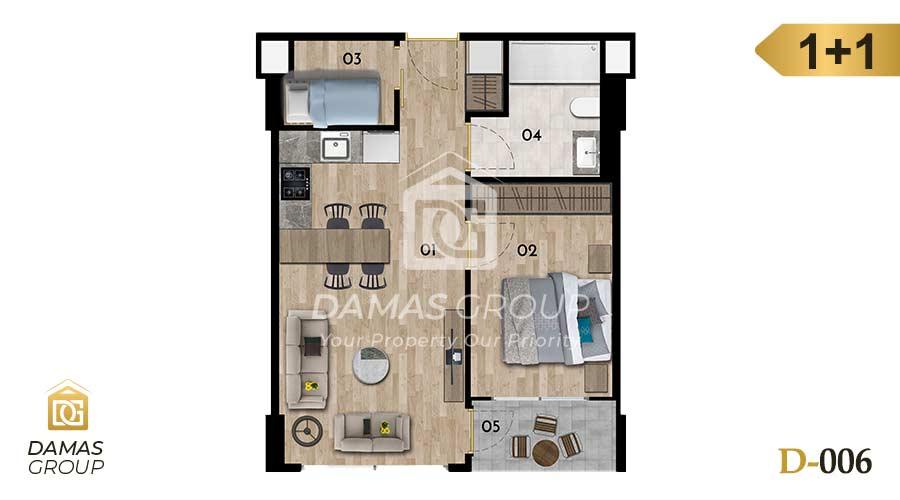 مجمع داماس 006 في اسطنبول  - صورة مخطط 01