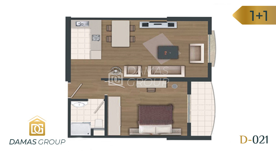 Damas Project D-021 in Istanbul - Floor Plan 01