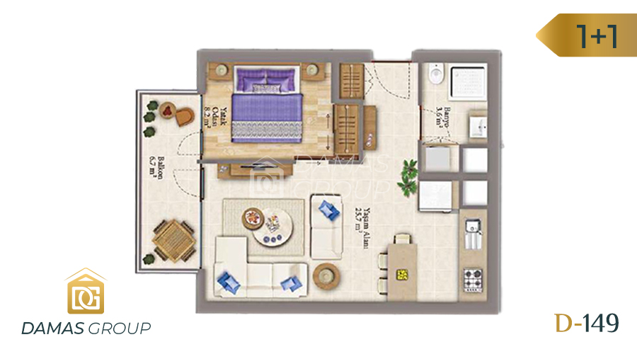 Damas Project D-149 in Istanbul - Floor Plan 01