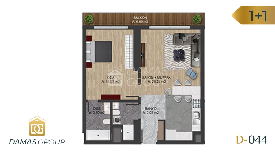 Damas Project D-0445 in Istanbul - Floor Plan 02