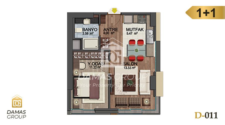 Damas Project D-011 in Istanbul - Floor Plan 01