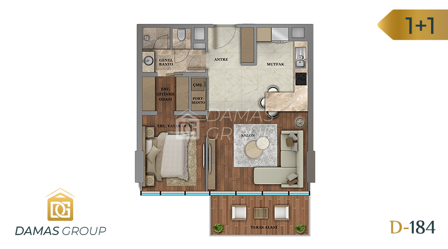 Damas Project D-184 in Istanbul - Floor Plan 01
