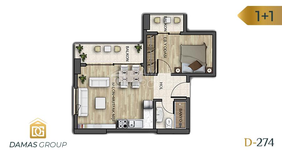 Damas Project D-274 in Istanbul - Floor Plan 02