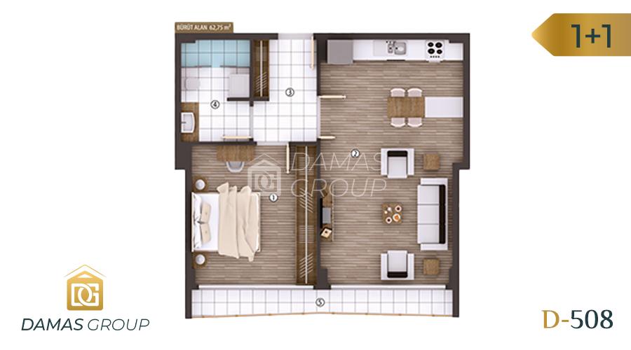 Damas Project D-508 in kocali - Floor Plan 01