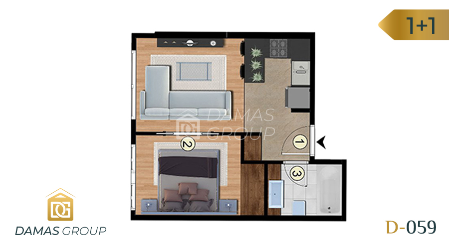 Damas Project D-059 in Istanbul - Floor Plan 01