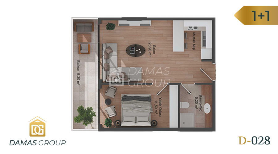Damas Project D-028 in Istanbul - Floor Plan 01