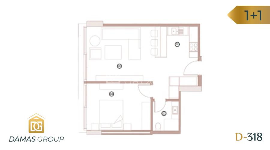 Damas Project D-318 in Bursa - Floor Plan 01
