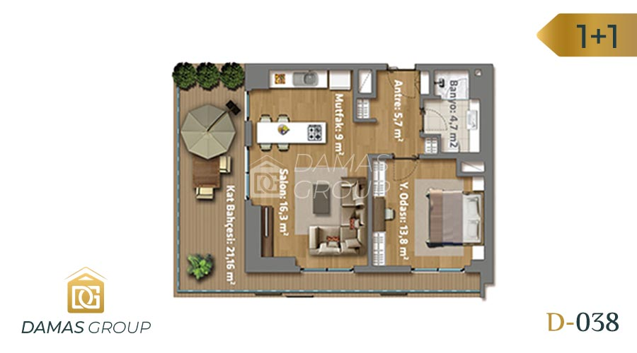 Damas Project D-038 in Istanbul - Floor Plan 01