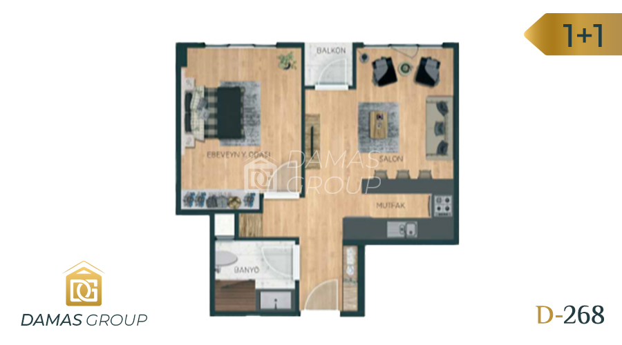 Damas Project D-268 in Istanbul - Floor Plan 01