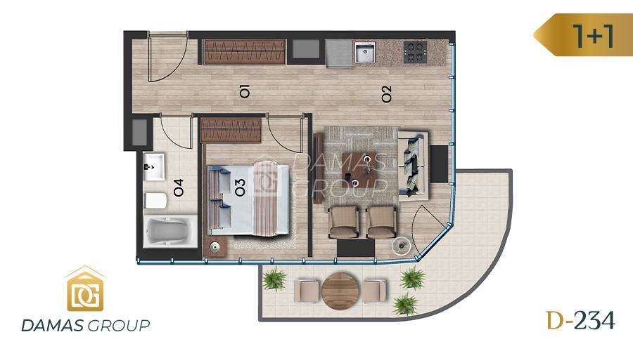 Damas Project D-234 in Istanbul - Floor Plan 01