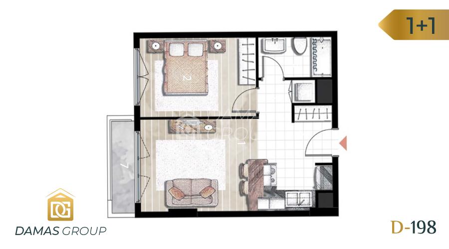 Damas Project D-198 in Istanbul - Floor Plan 02