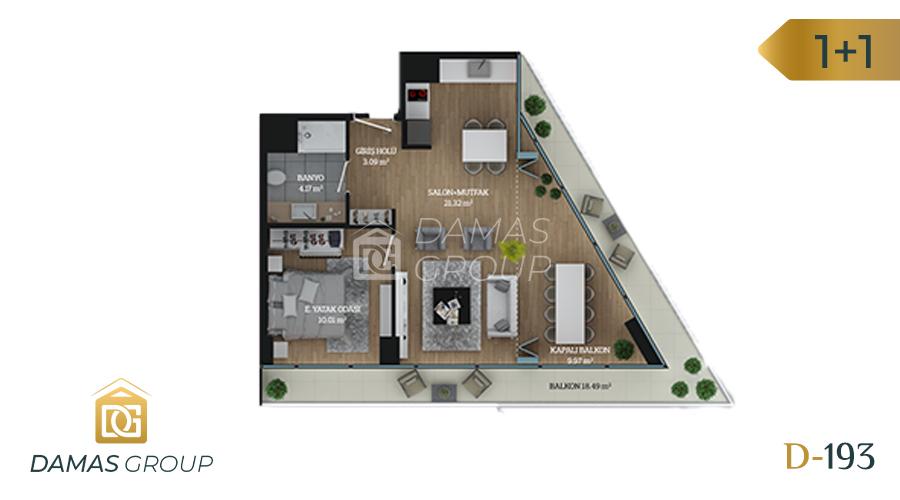مجمع داماس 193 في اسطنبول  - صورة مخطط 02