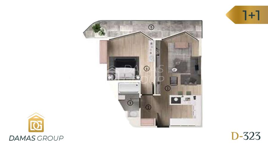 Damas Project D-323 in Bursa - Floor Plan 01