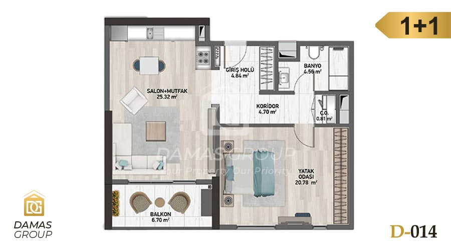 Damas Project D-014 in Istanbul - Floor Plan 01