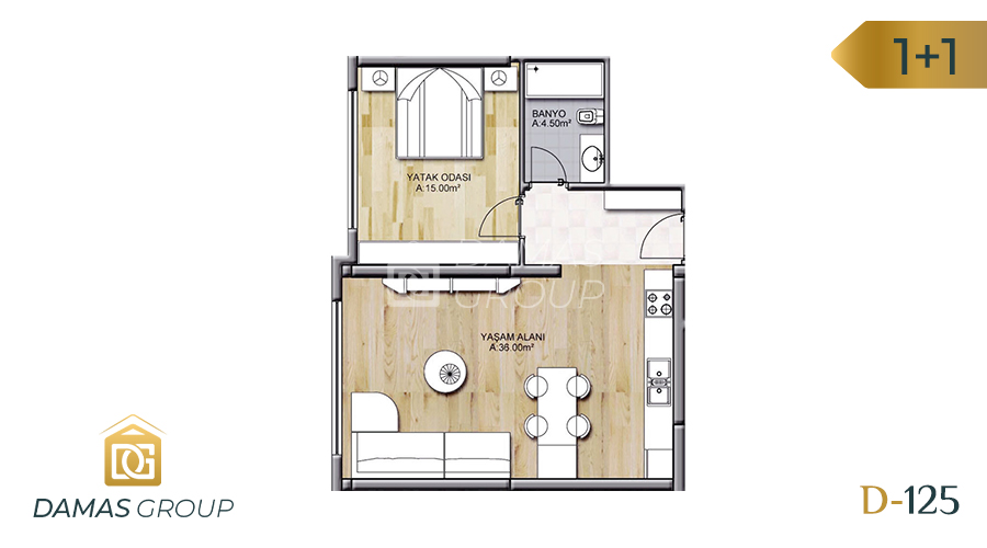 Damas Project D-125 in Istanbul - Floor Plan 01