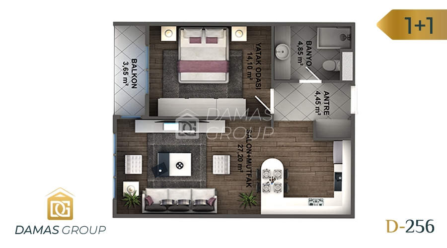 Damas Project D-256 in Istanbul - Floor Plan 01