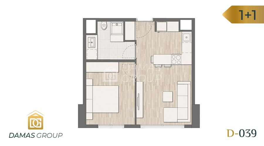 Damas Project D-039 in Istanbul - Floor Plan 01