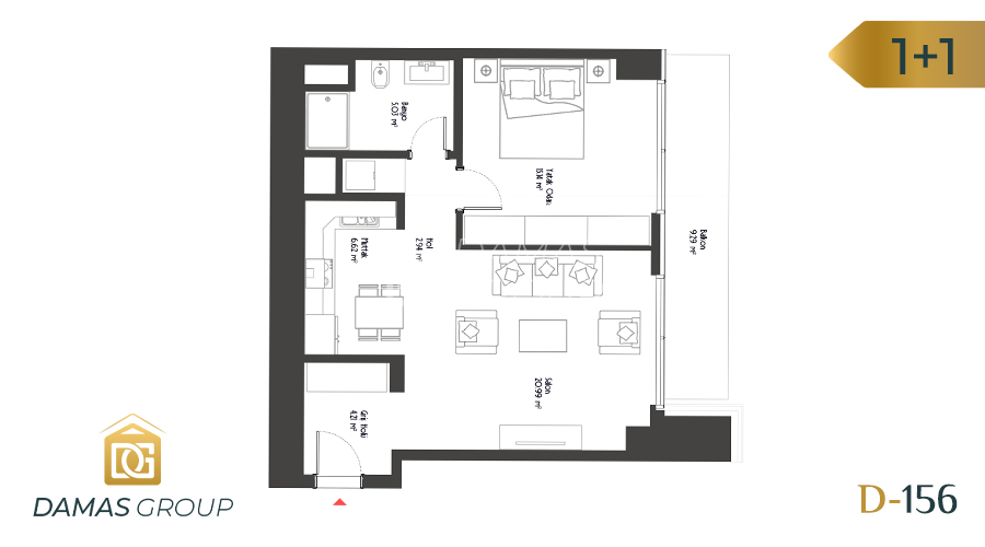 Damas Project D-156 in Istanbul - Floor Plan 02