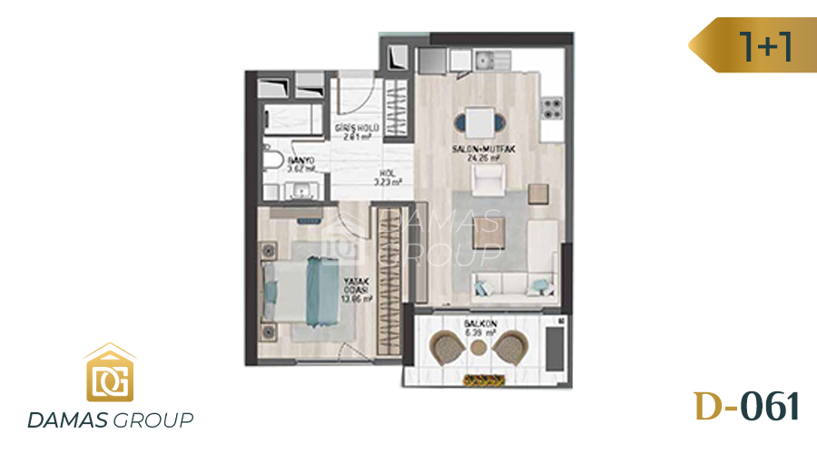 Damas Project D-061 in Istanbul - Floor Plan 01