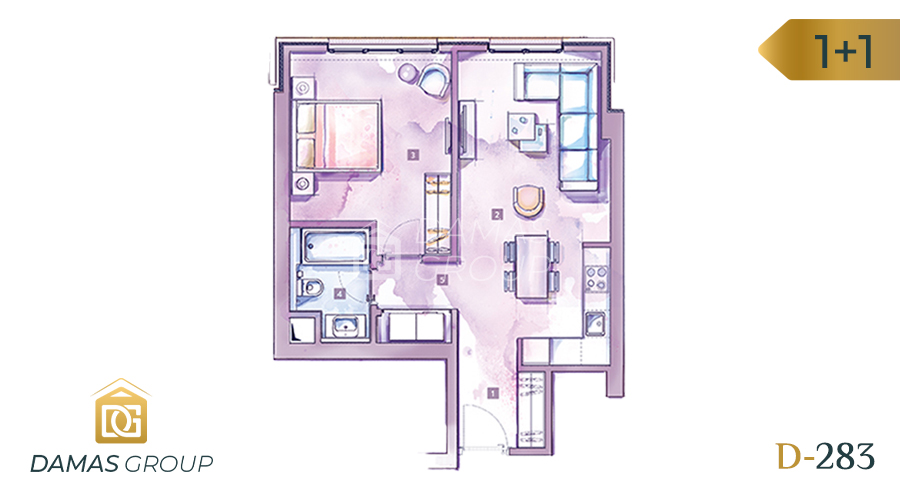 Damas Project D-283 in Istanbul - Floor Plan 02