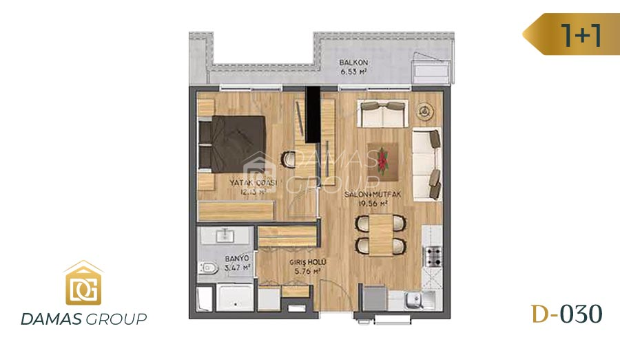 Damas Project D-030 in Istanbul - Floor Plan 01
