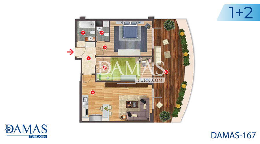 Damas Project D-167 in Istanbul - Floor plan picture  01
