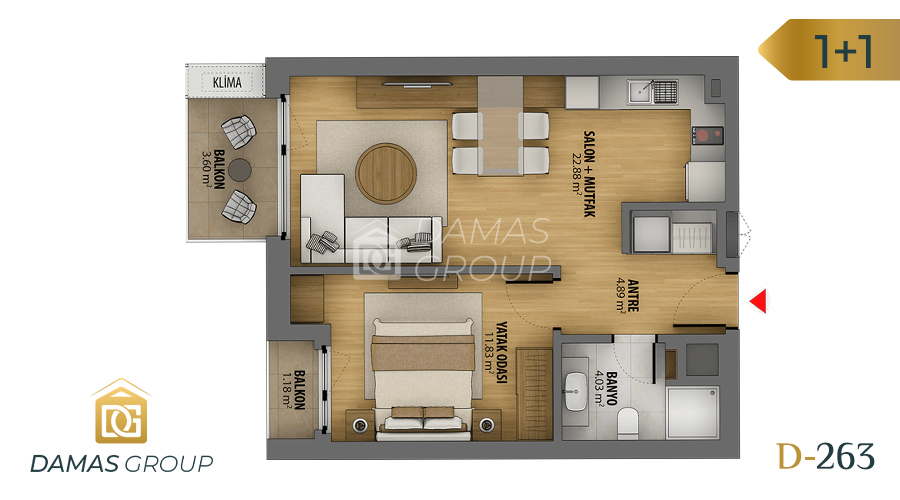 Damas Project D-263 in Istanbul - Floor Plan 01