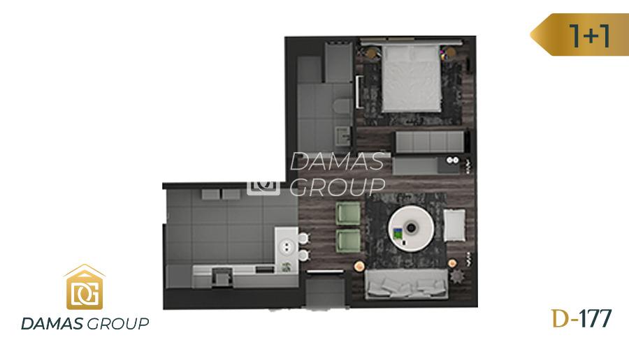 مجمع داماس 177 في اسطنبول  - صورة مخطط 01
