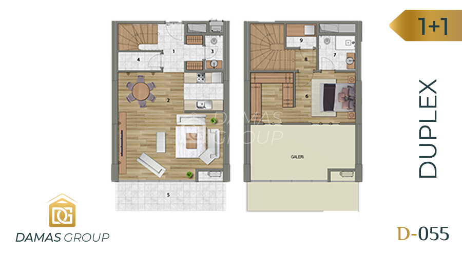Damas Project D-055 in Istanbul - Floor Plan 01