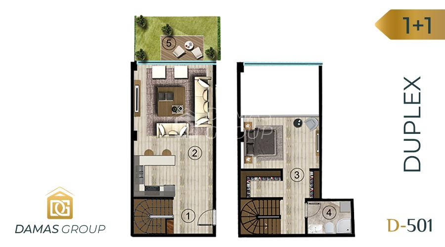 Damas Project D-501 in kocali - Floor Plan 01