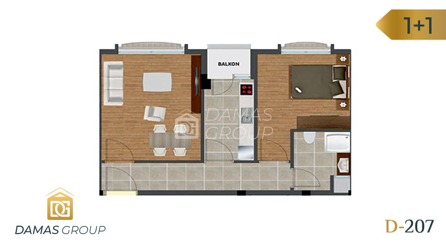 Damas Project D-207 in Istanbul - Floor Plan 01