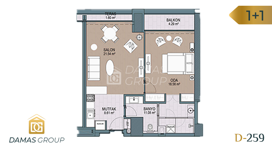 Damas Project D-259 in Istanbul - Floor Plan 01