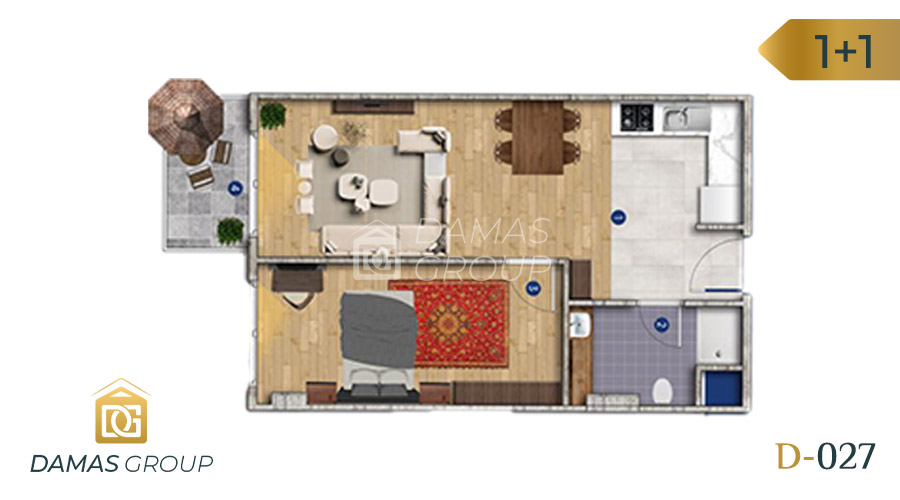 Damas Project D-027 in Istanbul - Floor Plan 01