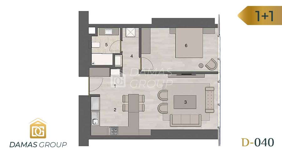 Damas Project D-040 in Istanbul - Floor Plan 01
