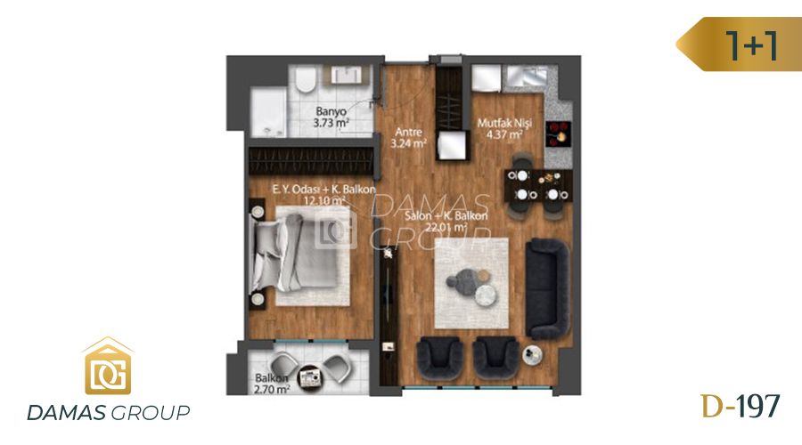 Damas Project D-197 in Istanbul - Floor Plan 01